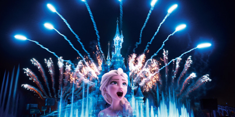 Disney illuminations in Disneyland Resort Paris